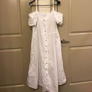 NWOT white midi off the shoulder dress asos