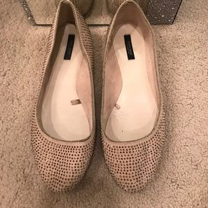 "Zara rhinestones ""ballet"" slippers"