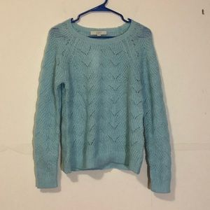 Loft: light blue acrylic sweater