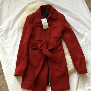 199$ NWT Gorgeous Zara coat wool zip up jacket XS