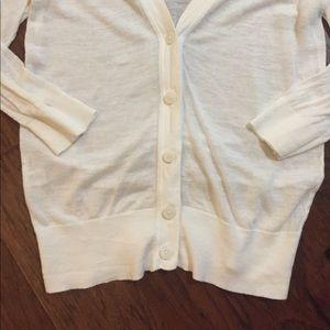 LOFT Sweaters - Loft White Cardigan