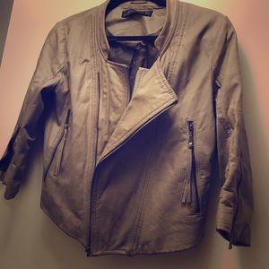 Zara lamb skin leather jacket