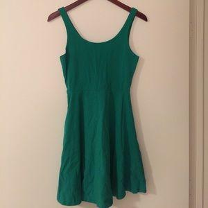 Express green tank dress