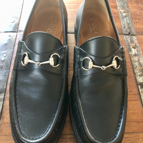 14c0d325755 Gucci Other - Black Mens Leather Gucci Horsebit loafer-Size 12