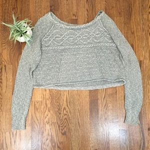 We The Free Sage Green Cropped Sweater