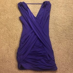BCBGMAXAZRIA Alondra Draped Crossover Dress