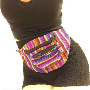 Multicolor Tribal Baja Fanny Pack Belt Bum Bag