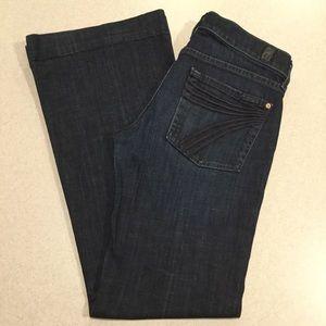 7 For All Mankind Jeans 27X30.5 Dojo New York Dark