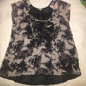 Gianni Bini Print Bead SS Shirt