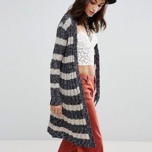 Free People Free Spirit Long Cardigan Knit Sweater