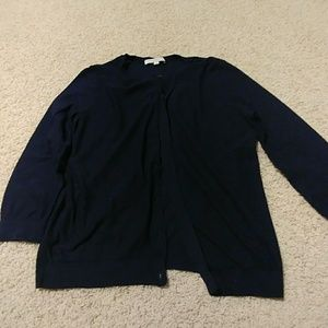 LOFT Sweaters - Navy Loft cotton cardigan