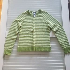 Gap green stripe sweater size small