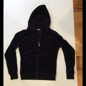 Juicy Couture Navy Blue Velour Jacket