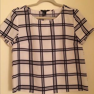 Forever 21 striped work top