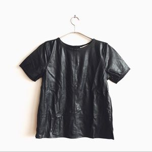Realistic faux leather top from loft