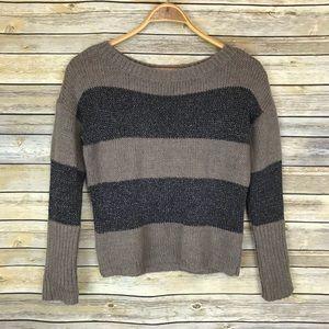 Ann Taylor LOFT Crewneck Sweater Brown, Small