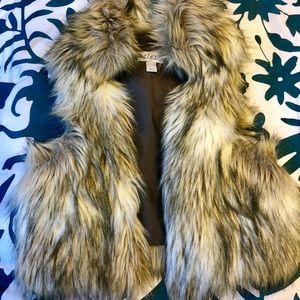 Fur vest from LOFT