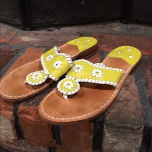 Jack Rogers Lime Green Sandals size 7