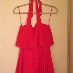 Asos pink chiffon dress