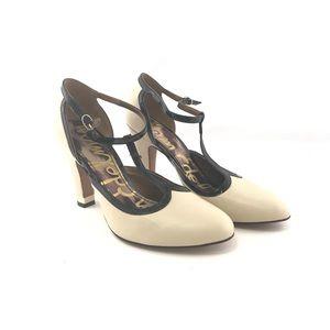 Sam Edelman black and cream heels. Woman's sz 8