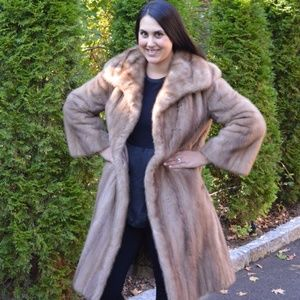 Jackets & Blazers - Canadian Mink Fur Coat Jacket Stroller Size 14-16