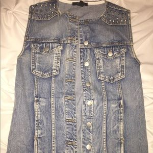 Forever 21 Denim Studded Vest