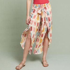 Anthropologie Flowy Wrap Pants