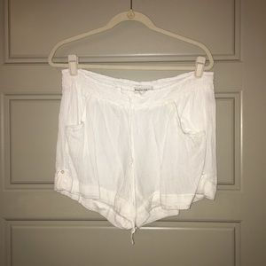 White cover up shorts