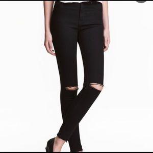 H&M Black High-Waisted Skinny Jeans