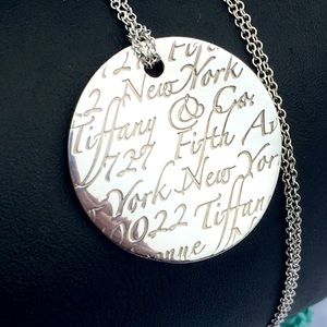 Tiffany & Co Retired Notes pendant