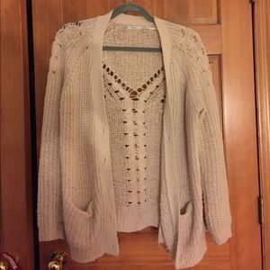White Urban Outfitters oversized cardigan