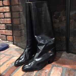Vintage Black Gucci Boots size 38 1/2