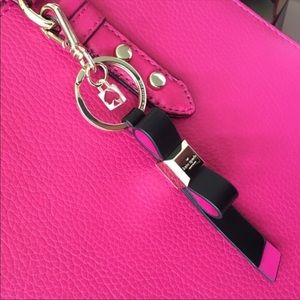 Kate Spade Leather Bow Keychain