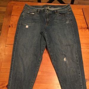 Lane Bryant boyfriend jeans; size 18; EXC
