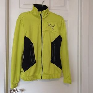 EUC lime/black Puma jacket