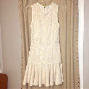 Bar III fitted cream dress