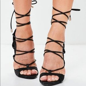 Miss guided lace up heel