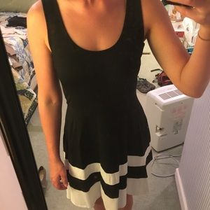Black sleeveless Banana Republic dress