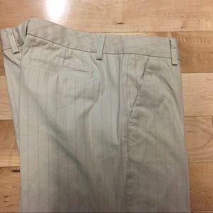 Tan khaki trouser with pink strips