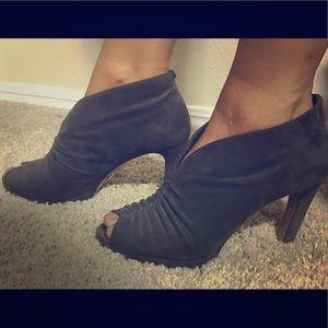Prada Gray Suede Heels (Used)