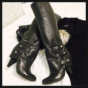✨NWOB✨Gorgeous Tall Black All Leather Boots🍁