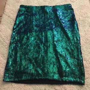 Sequin body con mini skirt