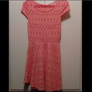 Charlotte Russe Lace Coral Dress