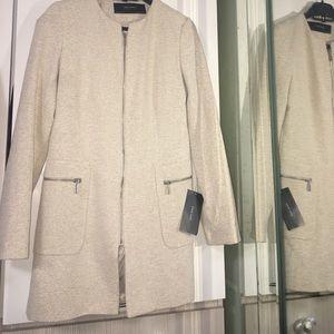 Zara long coat cream 2017
