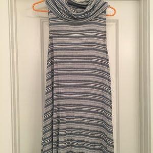 Sleeveless cotton striped swing dress size M