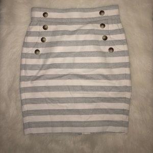 Loft stripped skirt
