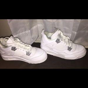 premium selection 98cb6 60d10 All White Air Jordan 4's NWT