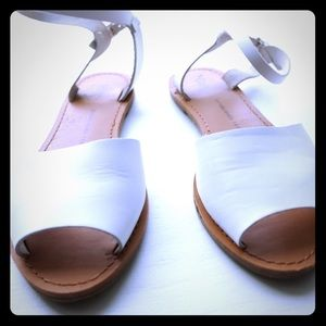 White leather GAP sandals