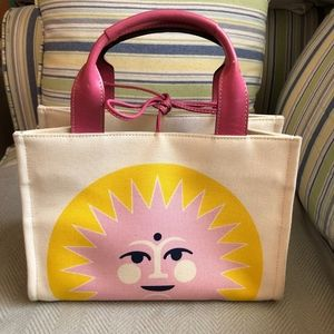 Kate Spade Canvas & Leather Sun Tote Handbag NWOT