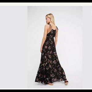 Free People Garden Party Maxi Black Floral Print